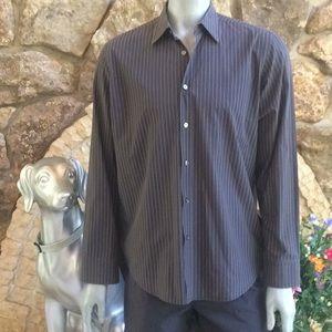 Hugo Boss Regular Fit Striped Button Down Shirt